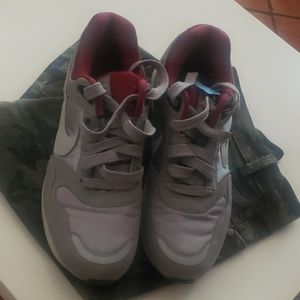 Grey Suede and Maroon Satin Nikes